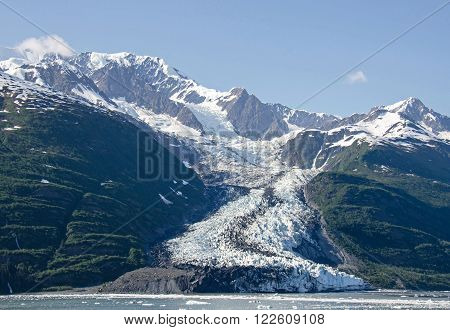 Smith Glacier in College Fjord in Southcentral Alaska