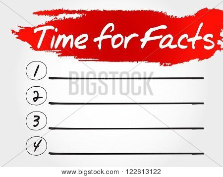 Time For Facts Blank List