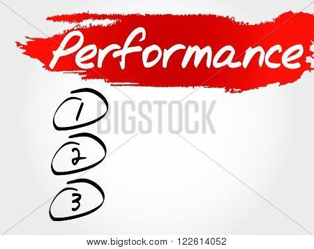 Performance Blank List, Fitness