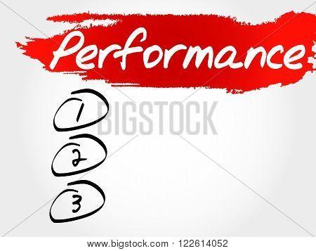 Performance Blank List, Fitness