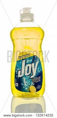Winneconne WI - 7 Feb 2016: Bottle of Joy dish soap.