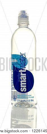 Winneconne WI - 5 March 2016: A bottle of Smartwater drinking water.