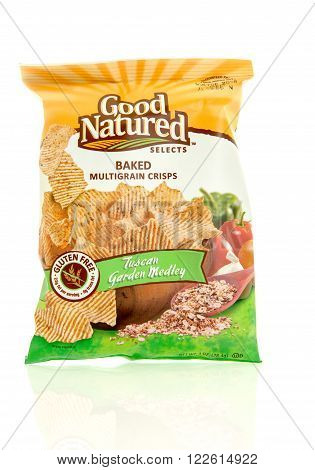 Winneconne WI - 17 Feb 2016: Bag of Good Natured Selects baked chips in tuscan garden medley flavor.