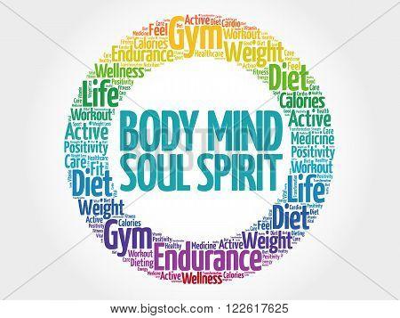 Body Mind Soul Spirit Circle Stamp