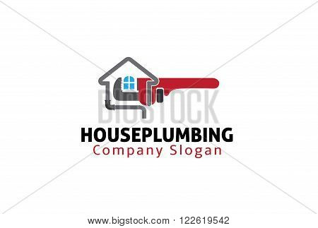 House Plumbing Creative And Symbolic Logo Design Illustration