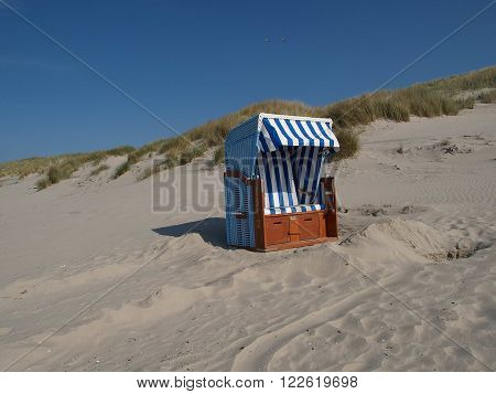 the beach of juist at the Germany North sea