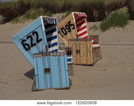 the beach of the german Island langeoog