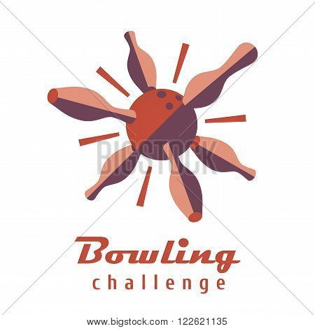 Bowling logo vector template. Logotype for bowling club bowling tournament