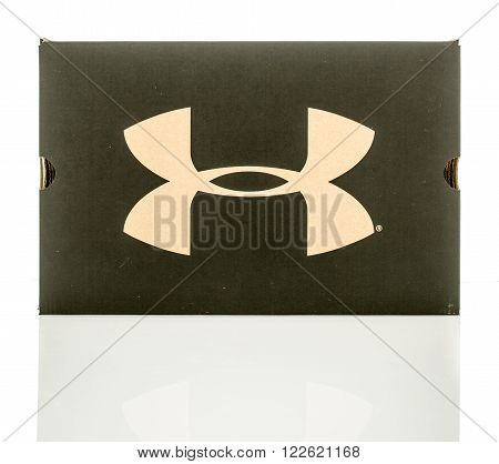 Winneconne WI - 24 Dec 2015: Box that contains Under Armour shoes boots or clothing.