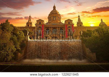 National Museum in Barcelona Placa De Espanya Spain.