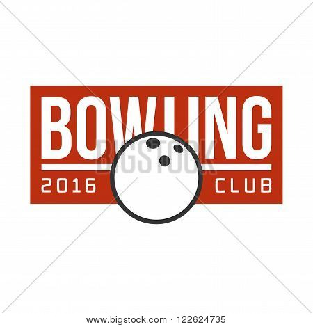 Vector bowling logotype. Template for bowling club, champion, challenge