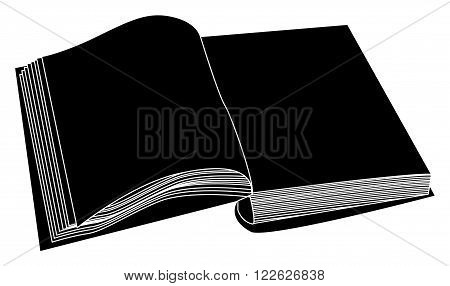 Open Book Vector Clipart, Symbol, Icon  Design. Illustration Isolated On White Background.