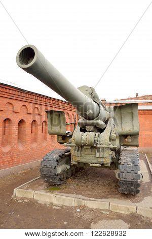 Howitzer field artillery gun from Word War Two.