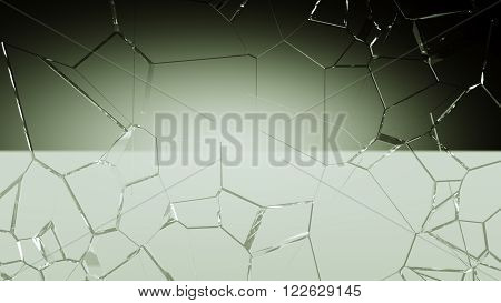 Shattered And Cracked Glass Background