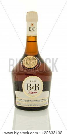 Winneconne WI - 19 March 2016: A bottle of Dom B&B Liqueur