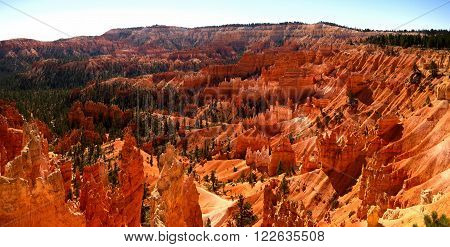 View of Bryce Canyon National Park from Sunrise Point (Utah, USA) (Stitched Panorama)