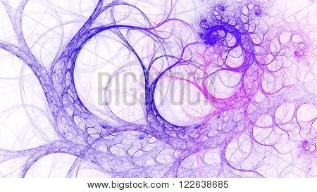 Fabulous tree branches. Avant-garde and abstract. Mysterious psychedelic relaxation wallpape. Sacred geometry. Fractal Wallpaper pattern desktop. Digital artwork creative graphic design.