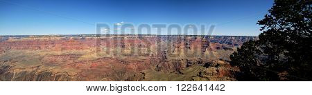 Grand Canyon National Park panoramic view from Yavapai point (Arizona, USA)
