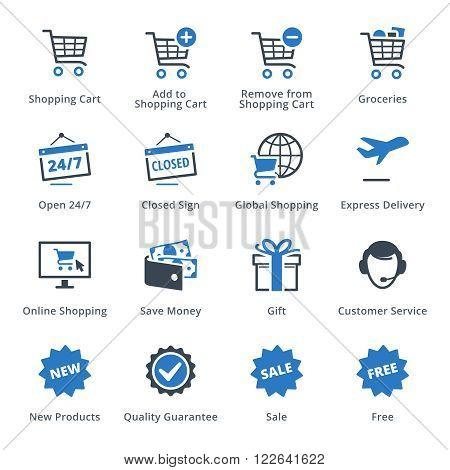 E-commerce Icons Set 2 - Blue Series