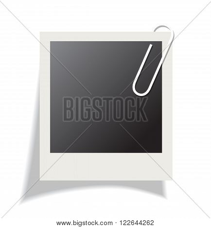 Blank instant photo isolated on white background