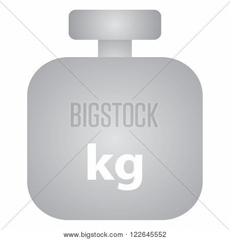 Weight sign icon grey on white background