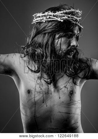 Faith, representation of Jesus Christ on the crossFaith, representation of Jesus Christ on the cross
