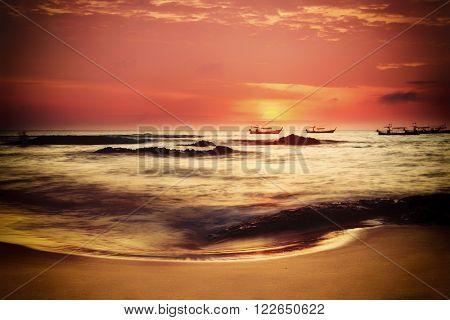 Beautiful Sunset in Khao Lak Thailand