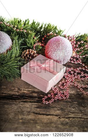 Pink Christmas Composition