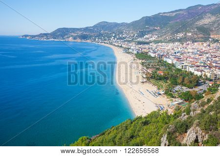city and Cleopatra beach, Alanya, Turkey