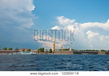 Peter and Paul Cathedral in St Petersburg Russia