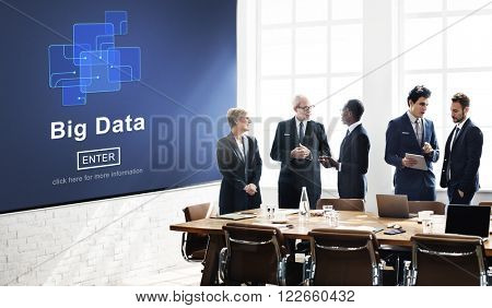 Big Data Storage Online Internet Memory Data Concept
