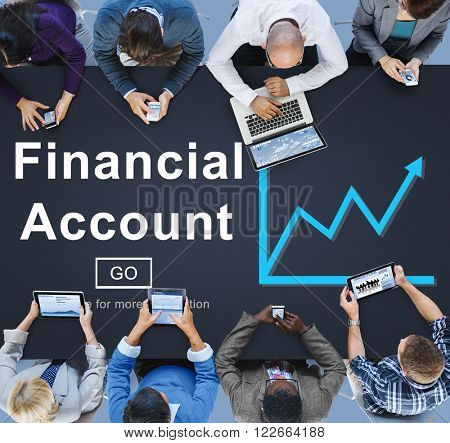 Financial Account Money Cash Growth Analysis Concept