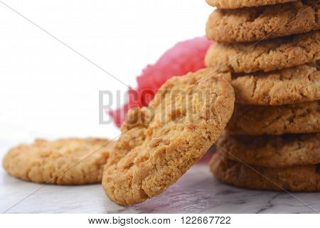 Traditional Anzac Biscuits With Poppies