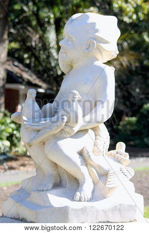 Wellington New Zealand - November 5 2015: 'Joy' statue located at the Wellington Botanical Gardens.
