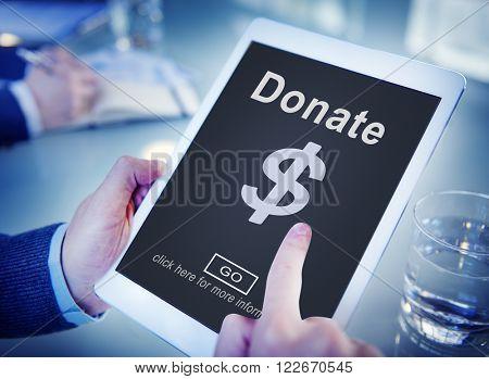 Donate Cash Money Gift Assistance Concept