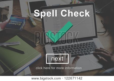 Spell Check Right Correctly Accuracy Concept