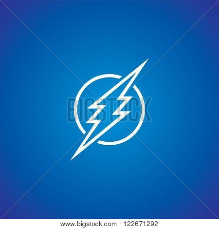 thunder bolt sign logotype theme vector art illustration