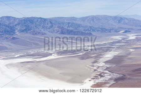 Aerial View Of Badwater Basin In Death Valley