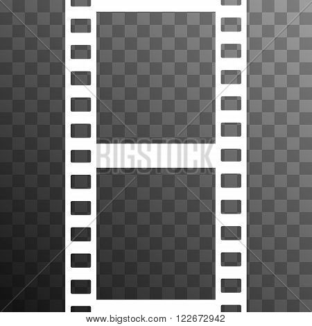 Vector Film Strip Illustration on Transparent Background. Abstract Film Strip design template. Film Strip Seamless Pattern.