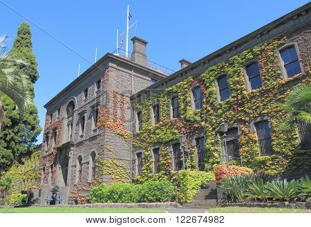 MELBOURNE AUSTRALIA - MARCH 20, 2016: Victoria Barracks historical building in Melbourne Australia