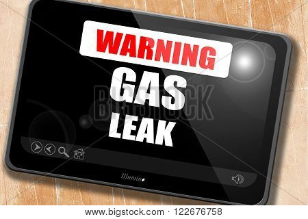 Gas leak background with some smooth lines