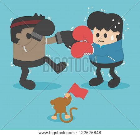 Boxing lose weight  vector eps .10 Illustration