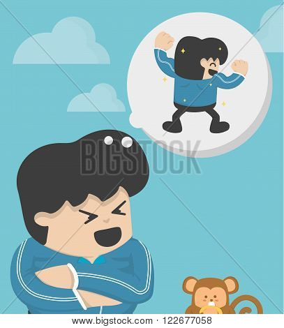 Dream of becoming obese.  vector eps .10