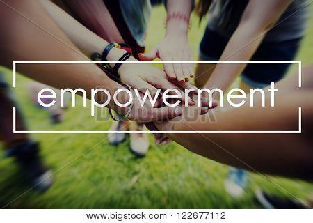 Empowerment Enable Improvement Progress Concept