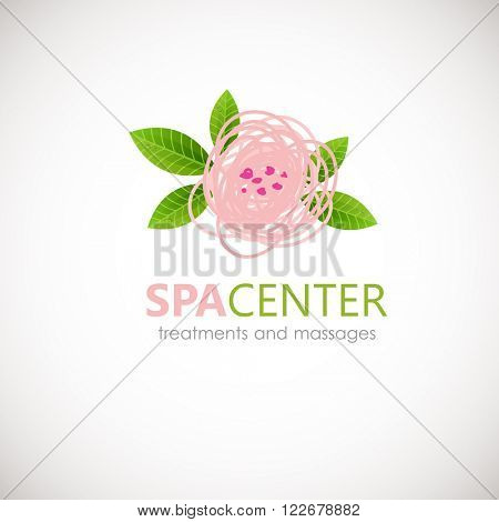 Floral symbol of spa. Logo. Vector Icon