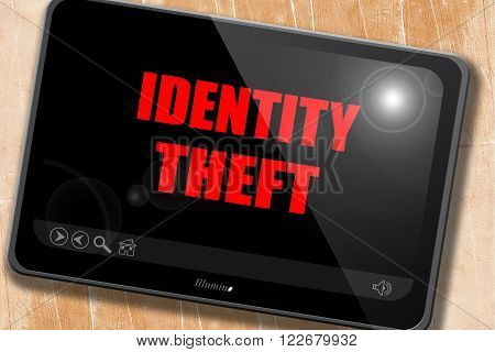 Identity fraud background with some smooth lines
