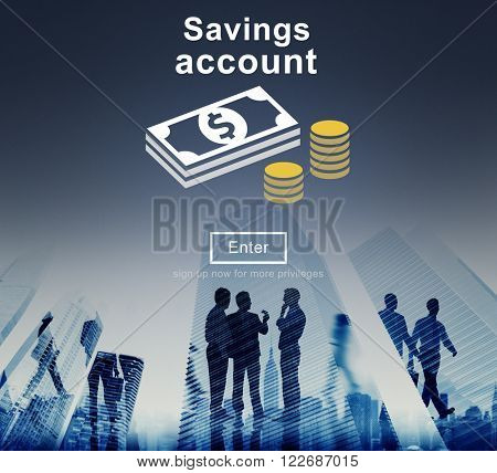 Savings Account Money Global Finance Concept