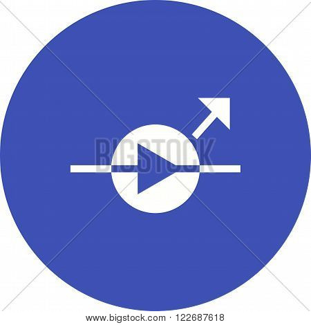 Diode, equipment, light icon vector image. Can also be used for electric circuits. Suitable for use on web apps, mobile apps and print media.