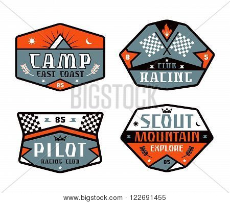 Set Of Race And Camping Patch