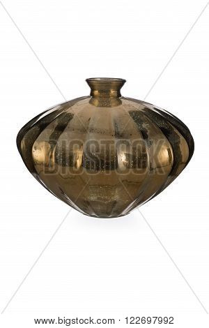 Diamons-shaped Gold Mercury Glass Bottle Vase